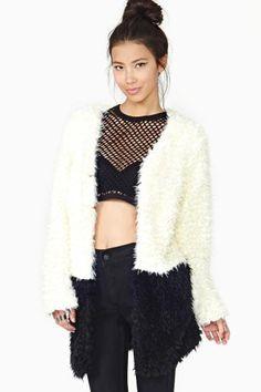 MinkPink Fashion Faux Fur Coat