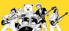 Heart Pirates Trafalgar D. Water Law, Bepo, Shachi, Penguin One piece art yellow