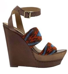 @E_Fish Earth Mother10 of 14  An artful, embroidered wedge adds a Summer of Love feel to a classic jeans and tee ensemble.