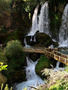 Scenic waterfall near Gemerek in Sivas Province, Turkey