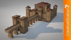 Small Castle - 3D modelling (#Cinema 4D) | CreativeStation