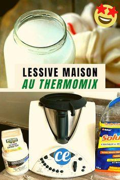 La recette de la lessive maison au thermomix. Facile, rapide et économique, cette recette DIY est écologique et 100% naturel avec du savon de marseille. Le tuto contient du bicarbonate de soude et des cristaux de soude. Voici comment faire sa lessive maison au Thermomix. Dyi, Diy And Crafts, Personal Care, Cleaning, Homemade, How To Make, Eh Bien, Beauty, Voici