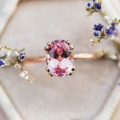 Don't count diamonds among your best friends? Here's the lowdown on diamond-alternative engagement rings. Classic Engagement Rings, Alternative Engagement Rings, Solitaire Engagement, Solitaire Ring, Peach Sapphire, Sapphire Rings, Sapphire Stone, Diamond Alternatives, Thing 1