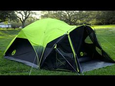 Dome Tents | 6 Person Tent | Coleman & Coleman Flatwoods II 4 Person Tent Grey | Tents and Products