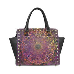 magic mandala Rivet Shoulder Handbag (Model 1645)