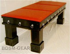 Bondage Dungeon Table Bdsm Store Bondage Store BDsm Furniture Dungeon Furniture all Made in the USA! Playroom Furniture, Large Furniture, Ikea Furniture, Furniture Plans, Dungeon Room, Red Rooms, Play Spaces, Made In America, Toy Boxes