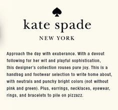 Kate Spade Quotes Behindthecurtain Kate Spade New York Spring 2015  New York Fashion