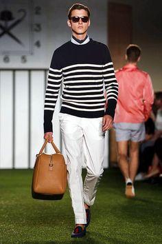 nautical stripes, classic prep style -- Hackett London SS15, summer menswear style