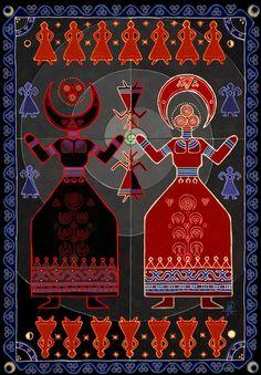 The Pagan origins of Christmas in Mithraism, Zoroastrianism and Egyptian Mythology explained in the video documentary The Pagan Origins Of Christmas Pagan Art, Occult Art, Origin Of Christianity, Pagan Festivals, Art Du Monde, Indigenous Art, Russian Art, New Art, Folk Art