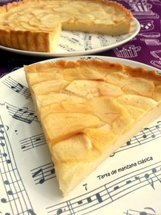 Tarta de manzana clásica Gourmet Recipes, Sweet Recipes, Cake Recipes, Dessert Recipes, Cooking Recipes, Flan, Thermomix Desserts, Muffins, Just Desserts