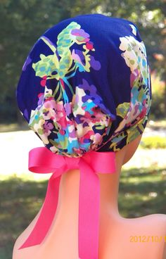 Mom heres what im allowed to wear since you were asking.  Etsy has tons of them Surgical Scrub Hat- The Mini- Love Bouquet. $15.99, via Etsy.
