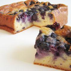 Griekse joghurt taart met blauwe bessen – Ontbijttaart en andere ontbijt inspiratie