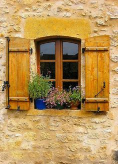 ♔ Franche-Comté ~ France I love the mustard color of the shutters