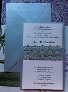 Wedding Invitation lasercut & customizable. $7.00, via Etsy.