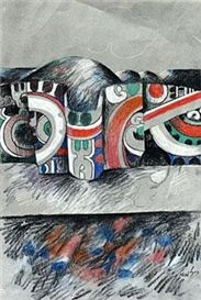 Banner Drawing (183×273) Banner Drawing, Maori Art, Objects, Patterns, Drawings, Painting, Image, Block Prints, Patrones
