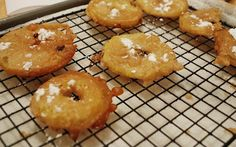 Beer-fried apple fritters (Jaques Pepin)