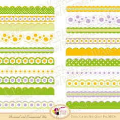 20 Digital Borders Fresh spring colors by PaintingFairyClipart, $3.99