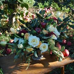 Gorgeous orchard-inspired floral arrangement (with DIY tips!) by The Ladies of Foret, on Design*Sponge.