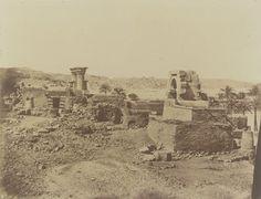1849-1850 - Philae : village et temple de Begueh. Photographe : Maxime Du Camp