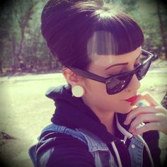 Beehive with Bettie Bangs