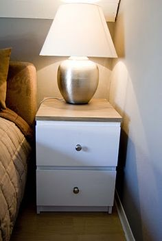 easy diy to the ikea malm nightstand that I have - Diy Furniture Bedroom Bedroom Furniture Makeover, Ikea Furniture, Upcycled Furniture, Furniture Projects, Furniture Design, Furniture Deals, Furniture Online, Luxury Furniture, Ikea Hack Nightstand