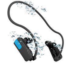 Der Swim Songs von Vistaquest ist der ideale MP3-Player für Sportler, denn er ist kabellos und garantiert damit volle Bewgungsfreiheit.    Der MP3-Player Swim Songs verfügt über Norm IPX8 und ist daher bis 3 Meter Tiefe wasserdicht. So können Wassersportarten stets mit der Lieblingsmusik im Ohr ausgeübt werden!