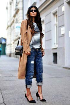 Джинсы бойфренды для женщин 40 лет  15 стильных образов Осенняя Мода,  Модные Тенденции, e9077c4df3d