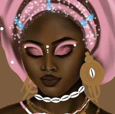 Close up of The Goddess Next Door: Obba Obba is an orisha celebrated in the Yoruba religion Ifa, as well Diasporic religions: Santeria, Candomble, Umbanda Her archetype includes Marriage, &...