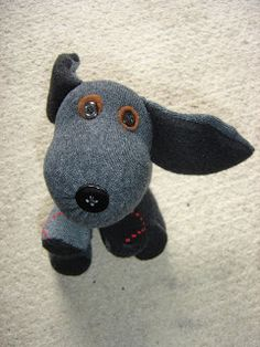 This cute sock dog would fit nicely in a boy or girl box!