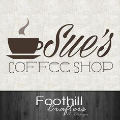 Custom Premade Logo  Cafe Coffee Shop Logo  by FoothillCrafters, $18.99