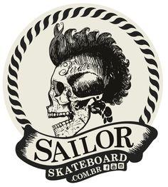 Adesivo #SailorSkateboard - Pirate SkatePunk