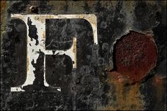 Typographic decay on outdoor signage