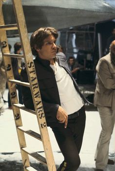 Harrison Ford on set of Empire Strikes Back, aka Star Wars 2 (not bloody 5!!)