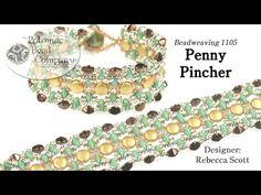 Penny Pincher Bracelet (Tutorial) - YouTube, supplies from www.potomacbeads.com
