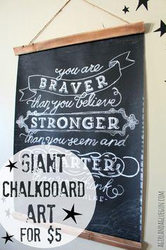 giant chalkboard art for $5