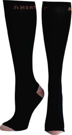 Ariat Women's Tall Boot Socks,Black,One Size Ariat