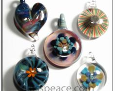 Glass Pendants lampwork focal beads - Wholesale Lot - Jewelry Supplies by Glass Peace (5781)