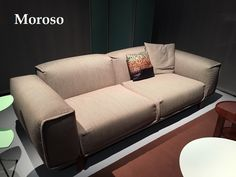 Moroso sofa at Milan Design Week 2016 http://www.malfattistore.it/en/2016/04/malfattistore-milan-design-week-2016/ | #malfattistore #interiordesign #onlineshop #italiandesign #modernfurniture #sofa #livingroom