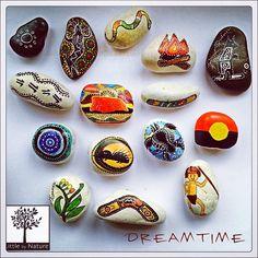 Story Stones Aboriginal Dreamtime by LittlebyNature on Etsy