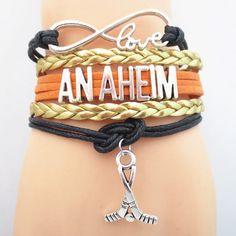 Infinity Love Anaheim Hockey Bracelet BOGO