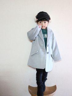 👕チェスターコート オーバーシルエットが可愛いコート♡ 起毛しててリッチな感じ♡ 母も似たようなの
