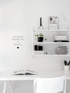 (my) unfinished home all white workspace