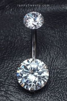 Double Clear Zircon Belly Button Ring Belly Button Piercing flower Belly Rings N. Belly Button Piercing Cute, Cute Belly Rings, Belly Button Jewelry, Belly Button Rings, Daith Piercing, Bellybutton Piercings, Ear Piercings, Body Piercing, Industrial Piercing Jewelry