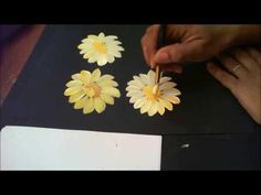 One Stroke: How To Paint A Daisy - YouTube