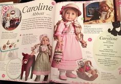 I am multitasking tonight by looking at Instagram and looking through this beautiful book at the same time! 😄😍 Here is Caroline's page.  Happy birthday, Caroline! 🎂 #americangirlbrand #americangirldoll #agig #agdoll #agdolls #carolineabbott #joy2everygirl #famousdolls #agig #americangirlultimatevisualguide