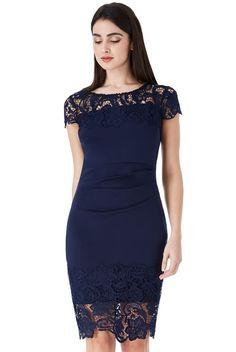 Georgia Midi μπλε σκούρο φόρεμα με δαντέλα Georgia, Formal Dresses, How To Wear, Fashion, Dresses For Formal, Moda, Formal Gowns, Fashion Styles, Formal Dress