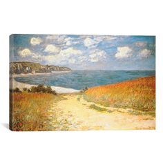 Path Through The Corn At Pourville by Claude Monet Canvas Print Wall Art - Overstock™ Shopping - Top Rated Prints