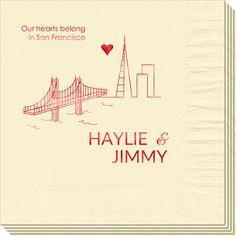 We Love San Francisco Napkins