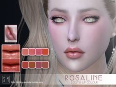 The Sims Resource: Rosaline  – Lolita Lip Colour by Screaming Mustard • Sims 4 Downloads