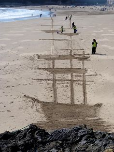 The Ghost Ship and the Silver Cloud on a Black Sky. Made by Andy Moss and the Sand In Your Eye team